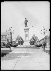 Another view of the monument.  William H. Watson Monument. Mount Royal Avenue, John Dubas, MC9072.