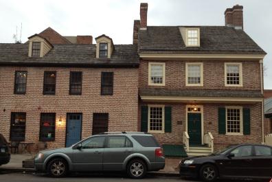 Robert Long House (right), December 2012, photograph by Damon Talbot.