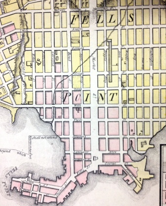 Warner & Hanna's Plan of the City and Environs of Baltimore, 1801 (1947 reproduction), MdHS.