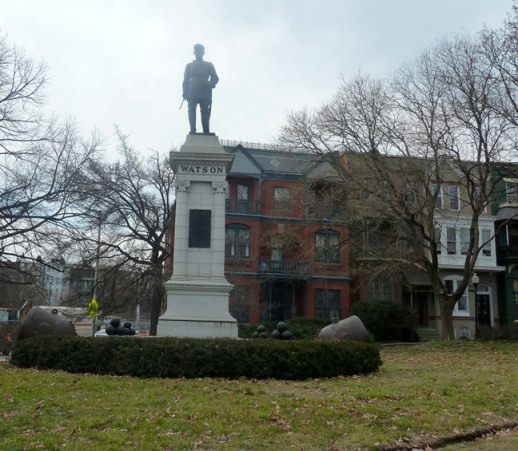 The Watson Monument as it appears today. Photo by Flickr user Littlesam.