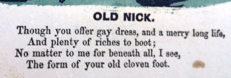 "Detail of ""Old Nick"" valentine."