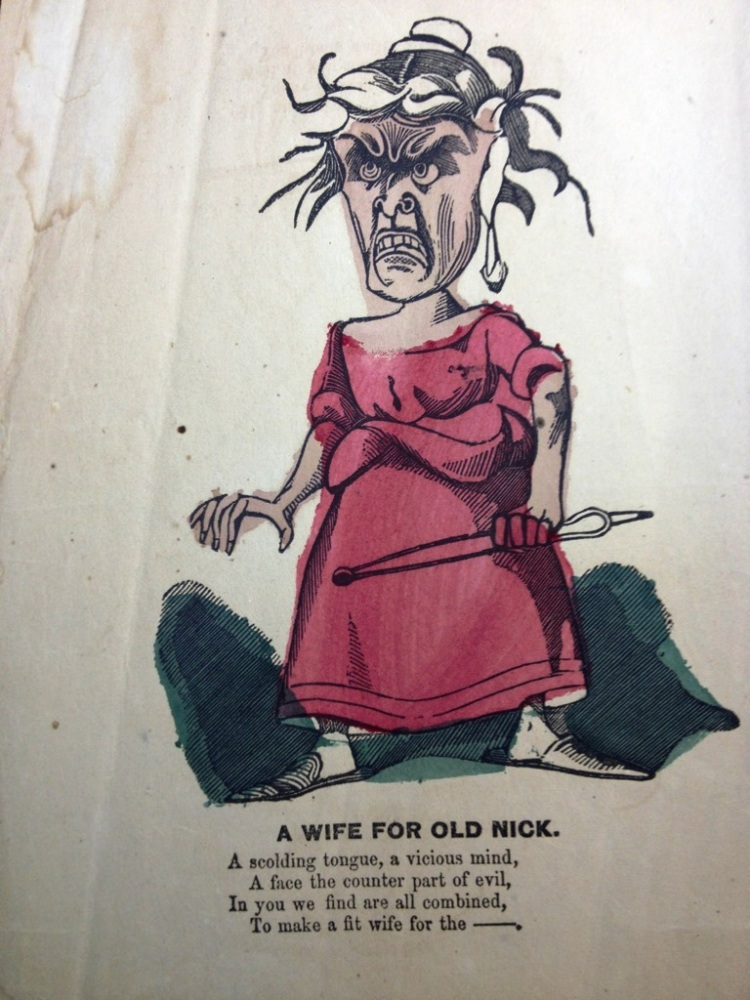 """Wife for Old Nick,"" ca. 1840-1910, MdHS, Valentine Ephemera, Series Z."