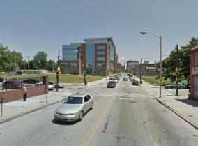 Baltimore Street, 900 block west, looking east, 2013, Photograph by Google.