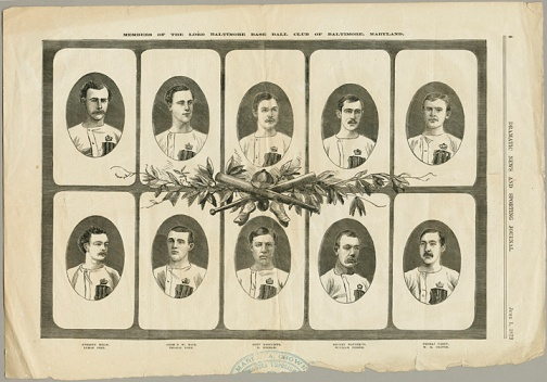 """Members of the Lord Baltimore Base Ball Club of Baltimore, Maryland,"""