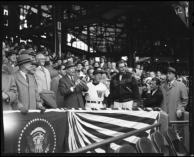 PP79-1208 President Eisenhower at Griffith Stadium, Washington D